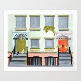 Porch Cats Art Print