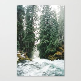 Sahalie Falls -- Downriver Canvas Print
