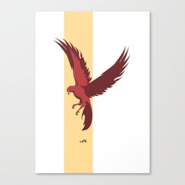 Red Falcon Canvas Print