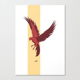 Red Falcon Canvas Print