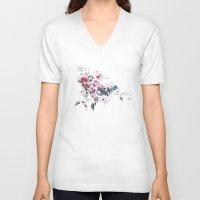 china V-neck T-shirts featuring China by tatiana-teni