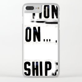 Church Sign Surfin' #1, Side B Clear iPhone Case