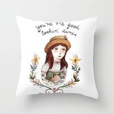 Good Lookin' Dame Throw Pillow