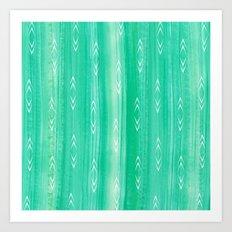 tourmaline gem + arrows pattern Art Print
