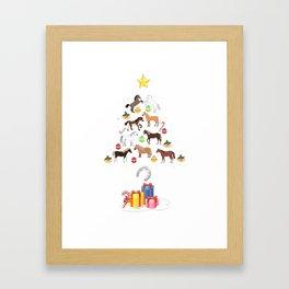 animals horse gift for you present funny happy december satan festival christmas Framed Art Print