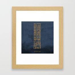 No Choice Framed Art Print