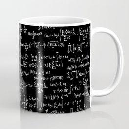 Math Equations // Black Coffee Mug