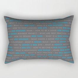 Web Design Words Rectangular Pillow