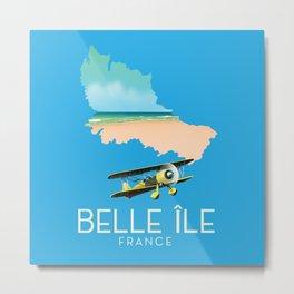 Belle Île island France Map. Metal Print