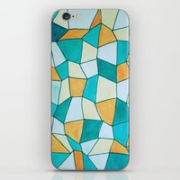 square iPhone & iPod Skins featuring Square by sinonelineman
