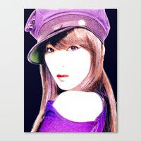 snsd Canvas Prints featuring Tiffany SNSD Girls' Generation Design by Timeless-Id
