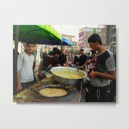 Iraqis are preparing food in Karbala Metal Print