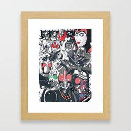 KR Black and black RX Framed Art Print