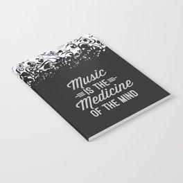 Music Medicine Mind Quote Notebook