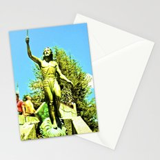 Powerful God cares for ill. Stationery Cards