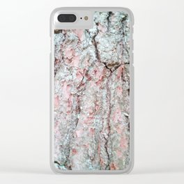 White pine bark. Clear iPhone Case