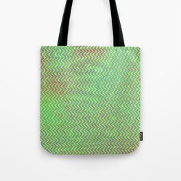 Green Flash chevron with texture Tote Bag