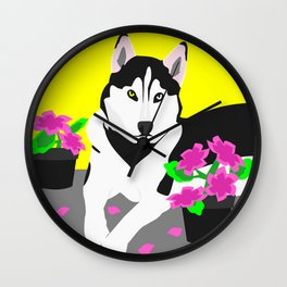 Luke The Husky Wall Clock