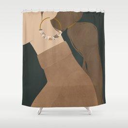 tortiseshell & turtlenecks Shower Curtain