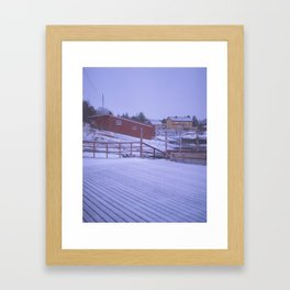Norway in the cold Framed Art Print