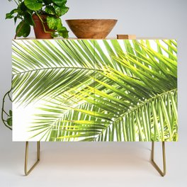 Palm leaves tropical illustration Credenza
