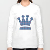plaid Long Sleeve T-shirts featuring Blue Plaid by Kings in Plaid