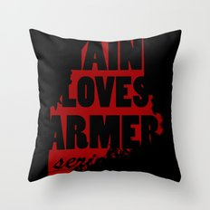Maine loves farmers, seriously. Throw Pillow