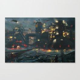 Dystopian Industrial Future Canvas Print