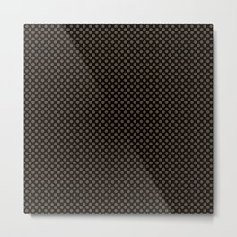 Black and Desert Palm Polka Dots Metal Print