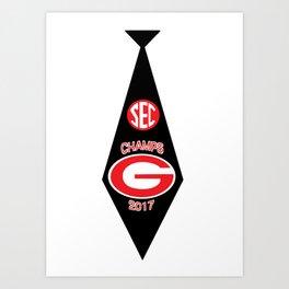 UGA SEC Champs Tie Art Print