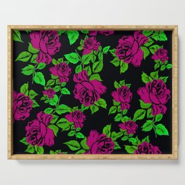 ROSES ROSES PINK AND GREEN Serving Tray