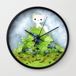 White fox Wall Clock