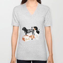 Coonhound Trio Unisex V-Neck