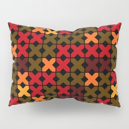 An abstract geometric pattern . Rustic . Pillow Sham