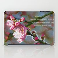 poem iPad Cases featuring Poem from Rumi by Lucia