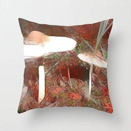 Coupled Macrolepiotas Throw Pillow