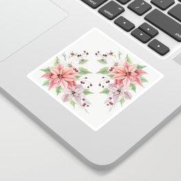 Poinsettia 2 Sticker