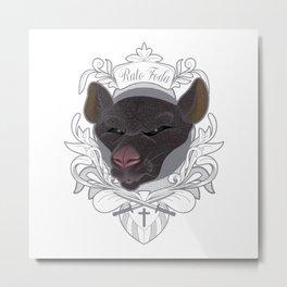 Rato Foda - Badass Rat Metal Print