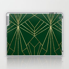 Art Deco in Gold & Green - Large Scale Laptop & iPad Skin