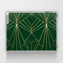 Art Deco in Gold & Green - Large Scale Laptop & iPad Skin