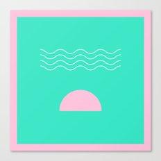 Aqua Sunrise Canvas Print