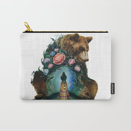 Flower & Bear Carry-All Pouch