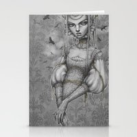 raven Stationery Cards featuring Raven by Zan Von Zed