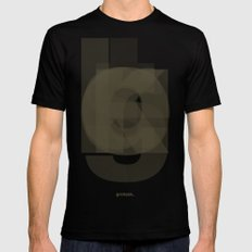 Die Neue Haas Grotesk (A-03) SMALL Mens Fitted Tee Black