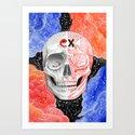 Skull in the space  by deadtoymatte