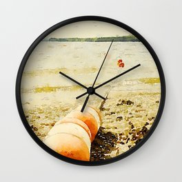 Floats, Lily Bay State Park, Maine Wall Clock