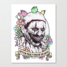 xoxo Twisty (color) Canvas Print