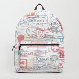Passport Stamps Backpack