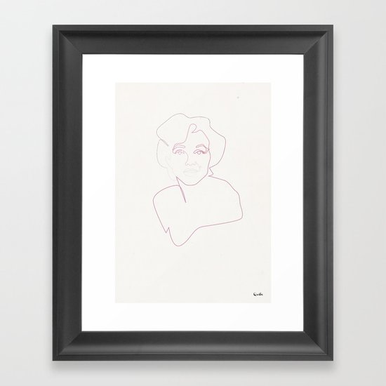 One line Marilyn Monroe Framed Art Print