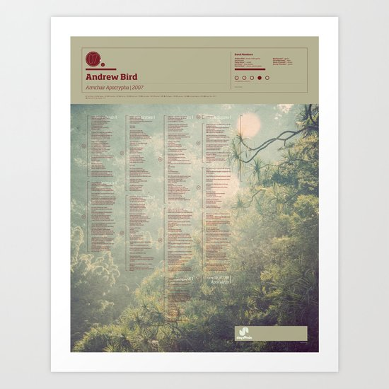 The Visual Mixtape 2010 | Armchair Apocrypha  | 07 / 25 Art Print